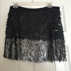 Zara Basic sequin shimmy and shake skirt