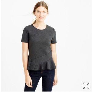 J. Crew Structure Flutter-hem T-Shirt