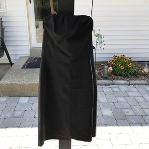 Express Strapless Dress with Leather Sides