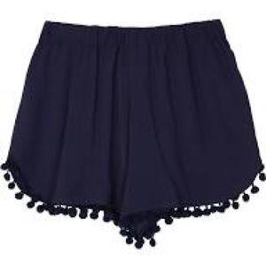Other - Navy Pom Pom flowy shorts!! (Size 10) super cute!!