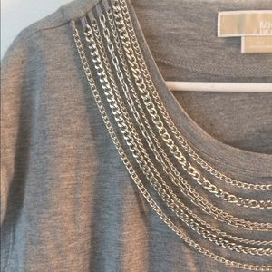 MICHAEL KORS shirt!! Gorgeous necklace attached