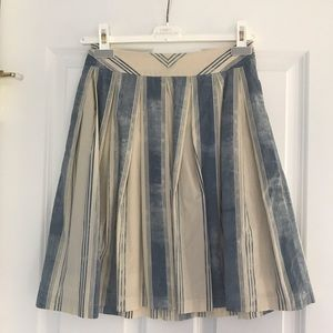 Anthropologie Pleated Midi Skirt