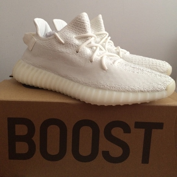 273d3724f53eb Authentic Adidas Yeezy Boost 350 V2 Cream White
