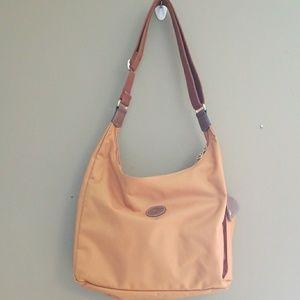 Longchamp burnt orange satchel