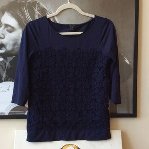 J.Crew Lace Front Tee ✨