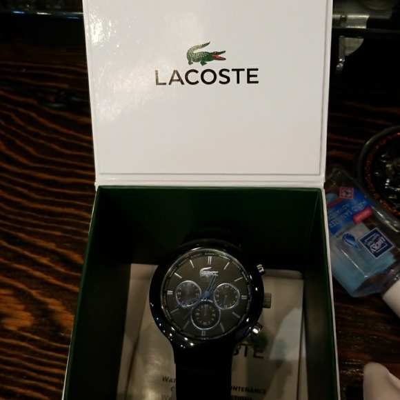8d4cf3ea Lacoste Accessories | Men Watch Silicone Band With 3 Chronograph ...