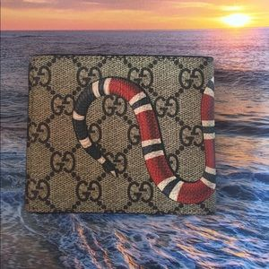 1109c009f232 Gucci Bags   Snake Skin Gg Supreme Wallet   Poshmark