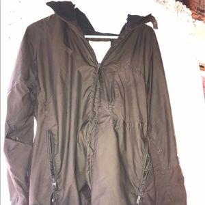 Fleece lined hooded jacket by stussy