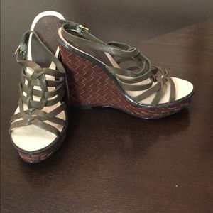 Colin Stuart Strappy Wedge Sandals Size 7.5B NWOT