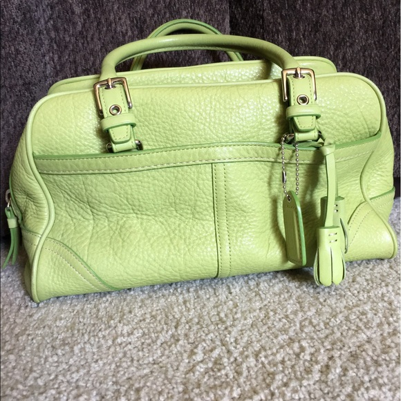Coach - Beautiful Coach lime green leather handbag from Terri's ...