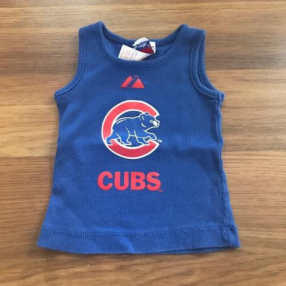 pretty nice 1d0e3 880a8 Chicago Cubs baby tank top