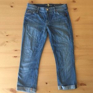 7 for all mankind skinny capris
