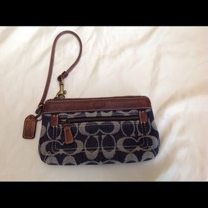 Authentic Coach Wristlet in denim
