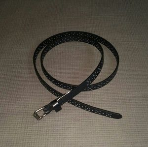 TARGET Black Skinny Perforated Belt