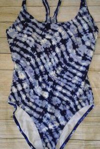 Speedo Blue Tye Dye One piece