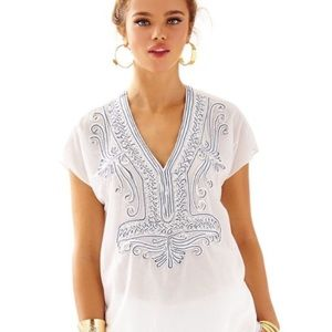 lilly pulitzer | ibiza embellished top. FREE GWP!