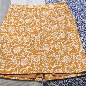 Ann Taylor Loft yellow skirt