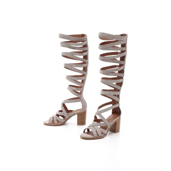 4d171a8fd49d Jeffrey Campbell Enyo Knee-high Gladiator Sandals