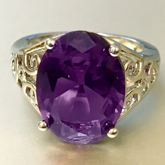 leroy jewelry leroy gorgeous 7ct amethyst sterling silver 925 2507