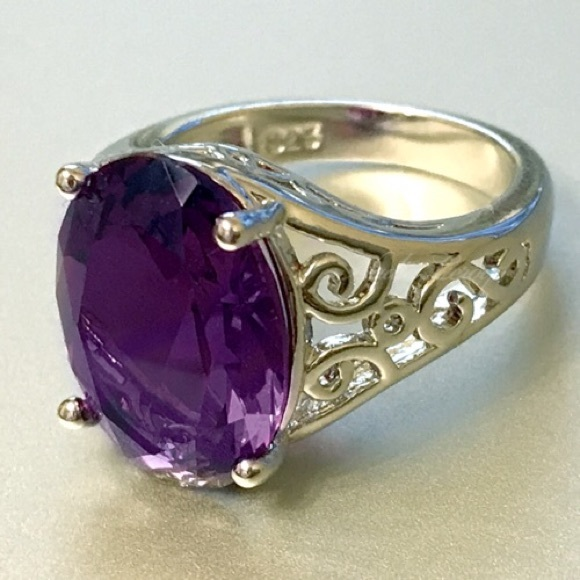 leroy jewelry leroy gorgeous 7ct amethyst sterling silver 925 5840