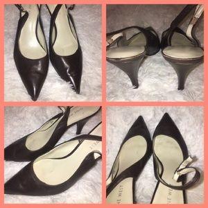 Brown size 6.5 Nine West heels beautiful