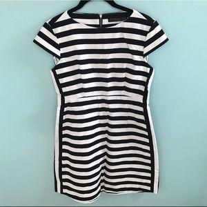 Zara Trafluc Black and White Striped Dress