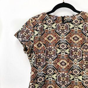 Zara Trafluc Brocade Dress