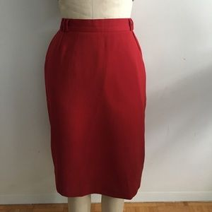 Berry red pencil skirt Philippe Dalma