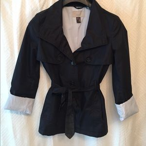 Navy H&M short trench coat!