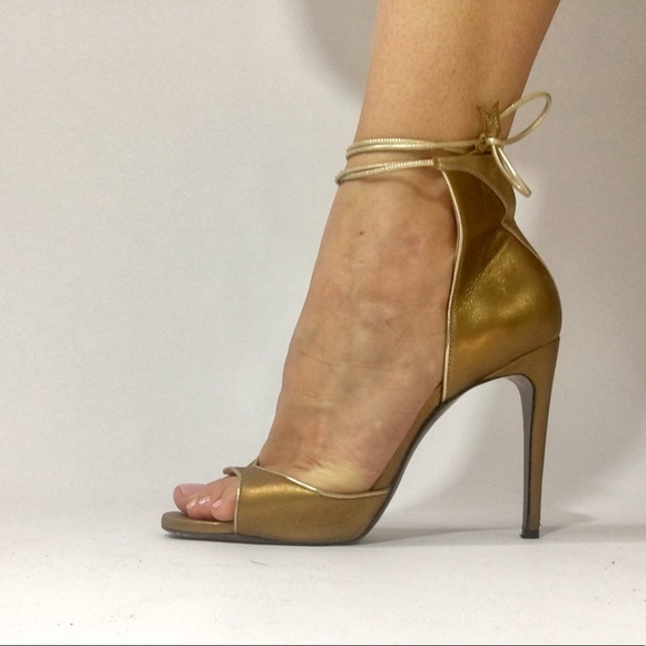 cc2ddb06f Valentina Carrano Shoes | Gold Roxelana Sandals | Poshmark