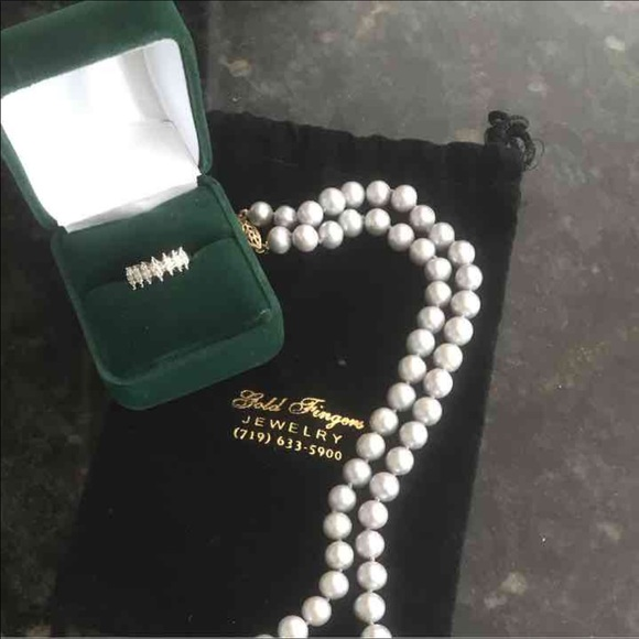 Kay Jewelers Pearl Necklace: Real Diamond / Pearl Necklace Price Very