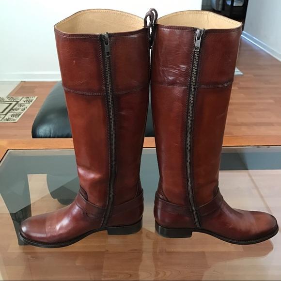 60 Off Frye Shoes Frye Melissa Harness Inside Zip Boots