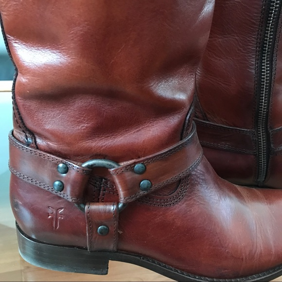 60 Off Frye Shoes Frye Melissa Harness Inside Zip Boots