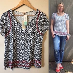 Stitch Fix Skies Are Blue Clotilde Embroidered Top