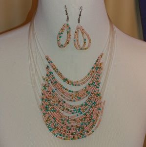 Jewelry - Woman's beaded necklace and earring set