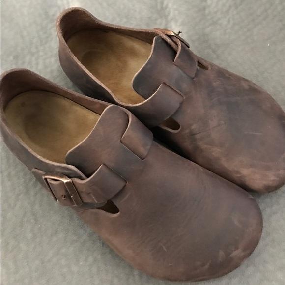 3a5567de590 Birkenstock Shoes - Birkenstock London Clogs- Habana Oiled Leather