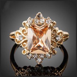 Cognac Swarovski Crystals Ring