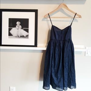 Comfortable Cotton Navy dress