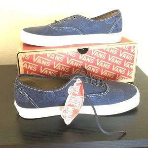 Vans blue Floral Parisian Night Navy New