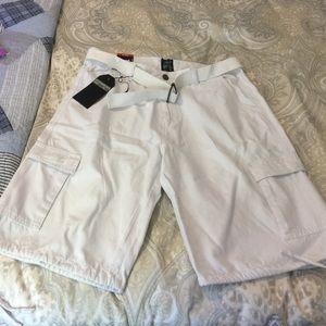 Men's White Cargo Shorts NWT
