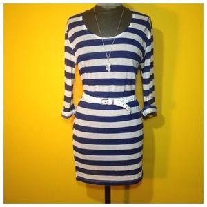 SOLD!  Betsey Johnson Striped Tunic/Tee/Dress