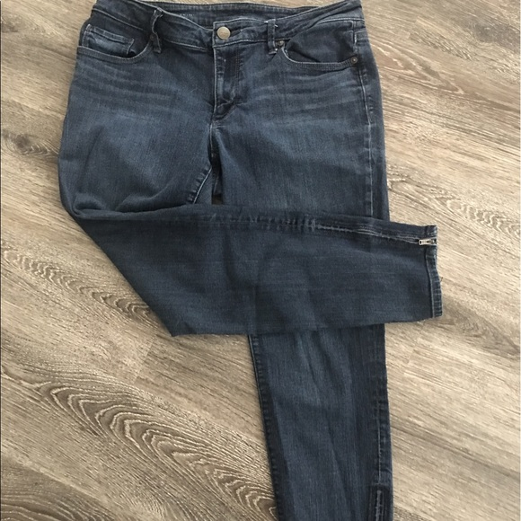70 off loft denim loft curvy skinny ankle zip jeans for Do true religion shirts run small or big