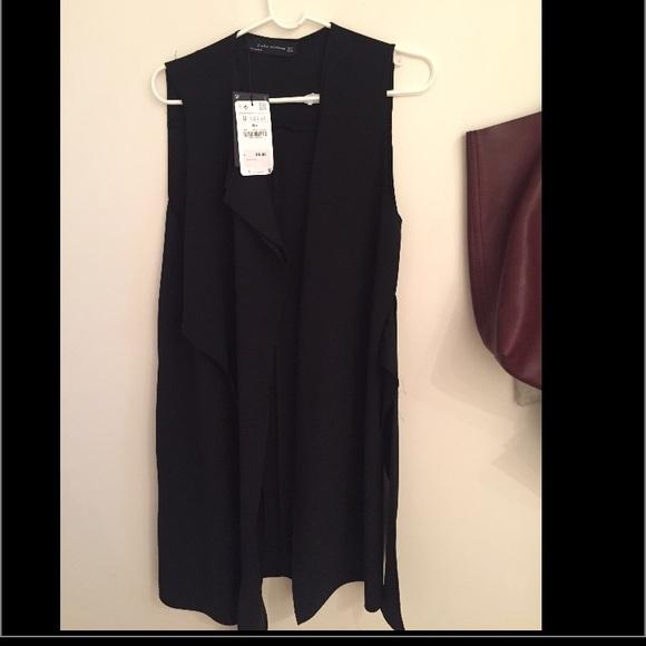 Zara Jackets & Blazers - Zara Woman Black Vest