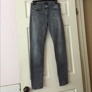 Hudson Midrise Nico Super Skinny Gray Jeans