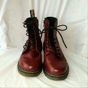 Dr. Marten Dark Red Delaney Boots nwot
