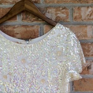 Vintage 1960s beaded sequin blouse