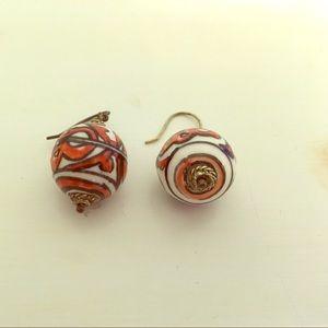 Handmade ceramic earrings.