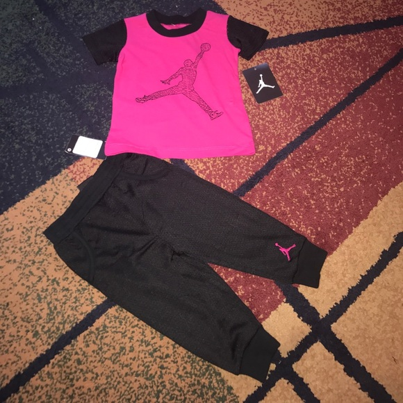 e7b92fba5f0fa Jordan Matching Sets   Baby Girls Nike Set Pants Shirt 12 18 Month ...