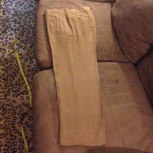 Polo Ralph Lauren Brown Linen Pants 35x30