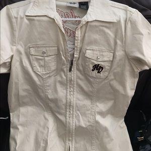 Harley-Davidson Tops - Harley Davidson blouse zippered front